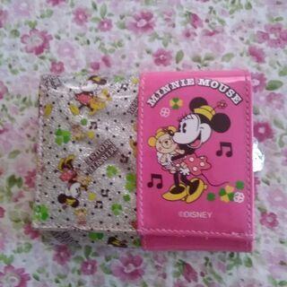 ミニーマウス キラキラ2つ折り財布