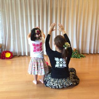 西宮夙川ママフラ体験会 キナ&カラニに師事するフラダンス教室