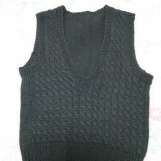 手編みベスト