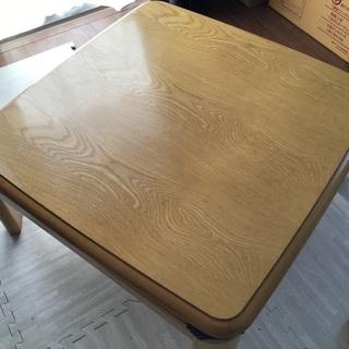 こたつ 不良品 テーブル 差し上げます ※こたつ掛け布団付き