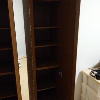【購入者決定】【無料!】鏡付き ラック 棚  - 家具
