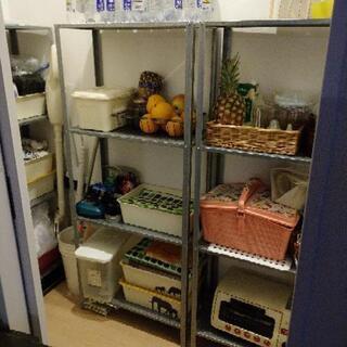 【購入者決定】メタルラック 棚 解体できます - 奈良市