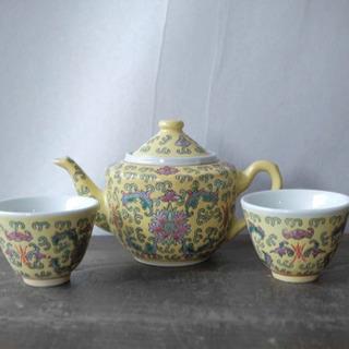 チャイナポップで可愛い◎景徳鎮 中国 骨董品 アンティーク…