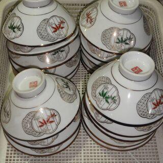 2 ご飯茶碗 レトロ アンティーク 昭和 18個 (1つ欠けあり)