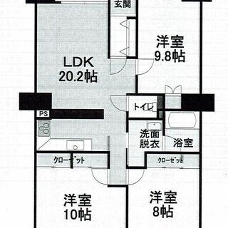 小牧市舟津 スペクトル舟津壱番館 3LDK 広々バルコニー!!専...