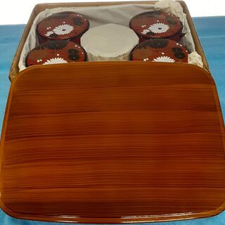 千鳥茶枢 蓋付ちらし寿司 5客セット(収納茶器入り)