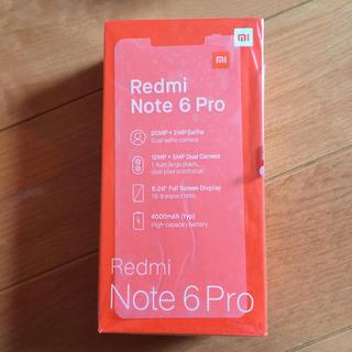 ★新品未使用 Xiaomi Redmi Note 6Pro…