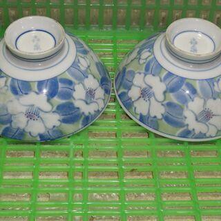 8 ご飯茶碗 レトロ アンティーク 昭和 2客セット