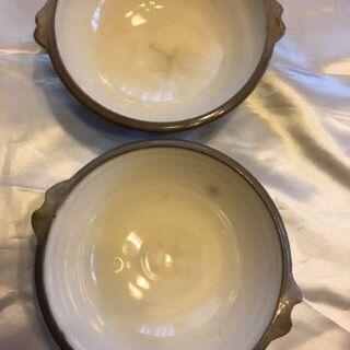 陶器のス-プ皿2枚他差し上げます。