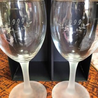 ステンドグラス ワイングラス ペアセット