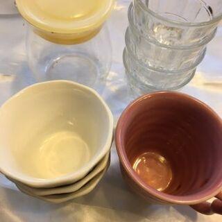 ミニグラス、デザ-トカップ他まとめて差し上げます。