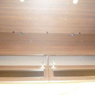 k198☆ハイテレビボード☆ブラウン☆パモウナ☆幅1400㎜☆近隣配達、設置可能 - 家具