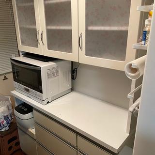 キッチンボード 食器棚 白 ホワイト 値下げ