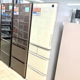 安心の1年保証付!2020年製 SHARP(シャープ)の3ドア冷蔵庫「SJ-W411F-N」