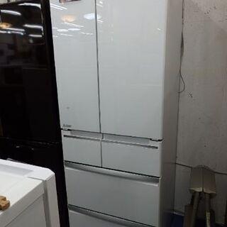 【配送設置無料エリア拡大】☆美品☆ 三菱 ノンフロン冷凍冷蔵庫 470L 2016年製 MR-WX48Z-W1の画像