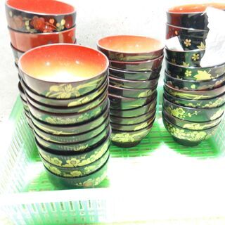 3 お椀  アンティーク 昭和 レトロ 柄数種類40個