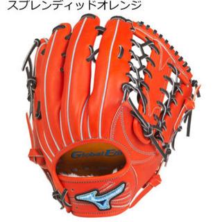 【新品】軟式 外野手用 グローブ 上林モデル 18N  オレンジ