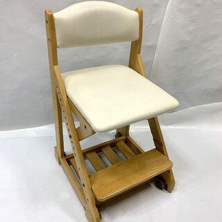 特価品!木製デスクチェア 座面高さ調節可能 キャスター付き 学習...