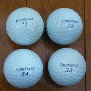 中古ゴルフボール ブリジストンV10 水色 計4球