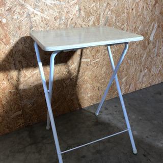 [山善] テーブル ミニ 折りたたみ式 サイドテーブル 幅50×奥行48×高さ70cm ナチュラルメイプル の画像