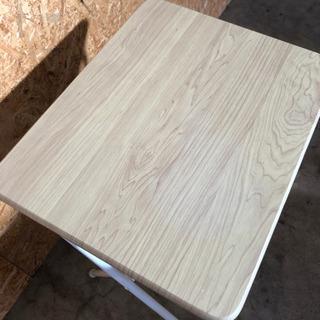 [山善] テーブル ミニ 折りたたみ式 サイドテーブル 幅50×奥行48×高さ70cm ナチュラルメイプル  − 福井県