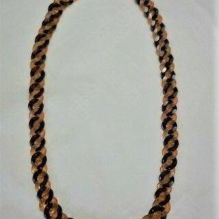 【ネット決済・配送可】べっ甲のネックレス(長さ 40cm)