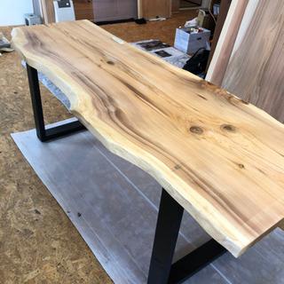 大特価 銘木 秋田杉 W201サイズ 無垢一枚板ダイニングテーブル