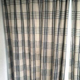 カーテン 2枚×2 レースカーテン