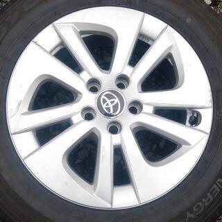 ★30プリウス アルミ・カバー・195/65R15夏タイヤ・専用ナット 中古品4本フルセット - 車のパーツ