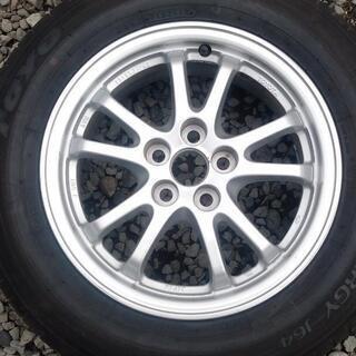 ★30プリウス アルミ・カバー・195/65R15夏タイヤ・専用ナット 中古品4本フルセット - 売ります・あげます
