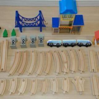 木製 レール 新幹線 おもちゃ 中古
