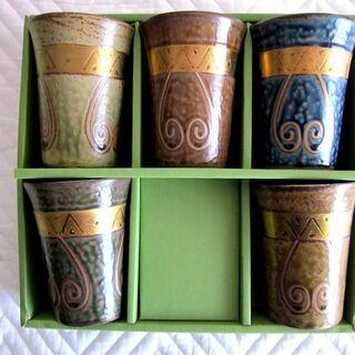 陶器ビアグラス(新品未使用)
