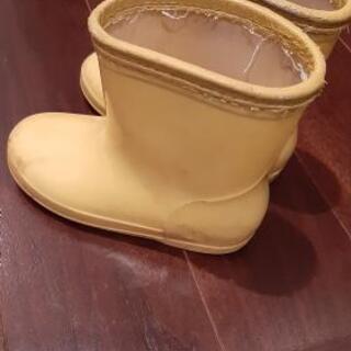長靴 黄色 15cm こども 幼稚園 無料