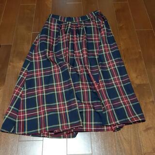 アメリカンホリック チェック スカート ひざ下 フリー