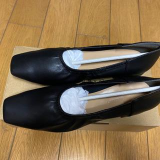 LOWRYSFARM ギャザーシューズ 黒 24~24.5cm(新品未使用) - 熊本市