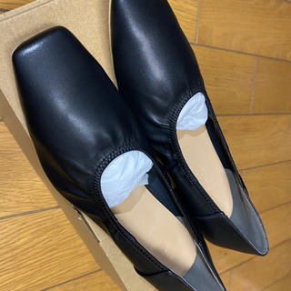 LOWRYSFARM ギャザーシューズ 黒 24~24.5cm(新品未使用) - 靴/バッグ