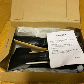 LOWRYSFARM ギャザーシューズ 黒 24~24.5cm(新品未使用) - 売ります・あげます