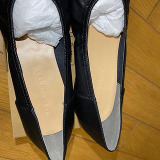 LOWRYSFARM ギャザーシューズ 黒 24~24.5cm(新品未使用) − 熊本県