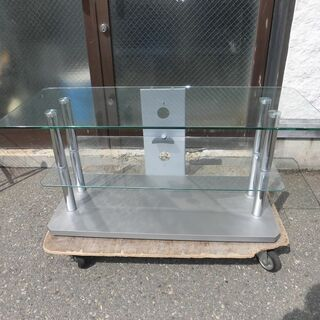 JM10591)TEMPERED GLASS テレビ台 強化ガラ...