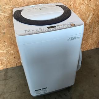 洗濯機 SHARP ES-G7E2  2015年製 動作確認OK