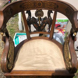 アンティーク 飾り 椅子  - 家具