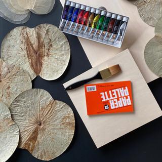 ◆自然素材のアート◆ボタニーペインティング◆