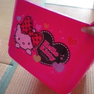 キティちゃん/収納バスケット大容量/キャスター付き/おもちゃ箱
