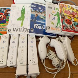 【ネット決済】Wii本体とソフト、fit、太鼓のセットです。