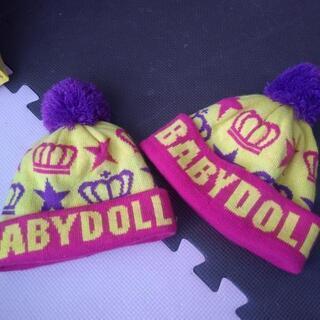新品同様BABYDOLL♡ニット帽/ベビーからキッズ