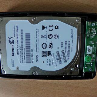 250GBハードディスク付きHDDケース