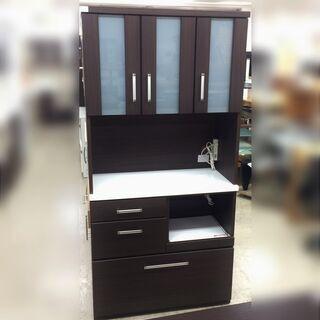 J507 ニトリ 食器棚 キッチンボード RIPE(ライプ) 9...