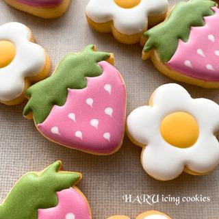 4月のアイシングしやすいクッキー生地とふわふわロイヤルアイ…