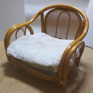 【ネット決済・配送可】レア物特価❗️籐の回転椅子