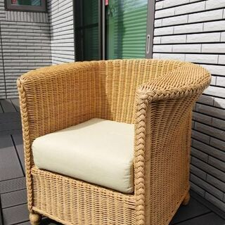 籐の椅子の画像